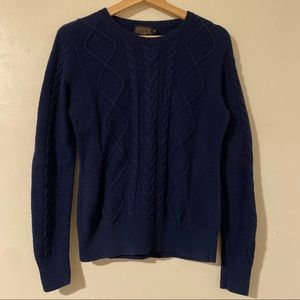 Pendleton Cable Knit Sweater Dark Blue Medium P